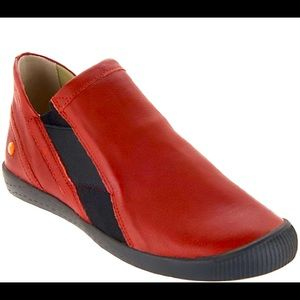 Softinos by FLY London Leather Red Shoes